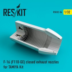 F-16 (F110-GE) closed exhaust nozzles for TAMIYA Kit (1/32)