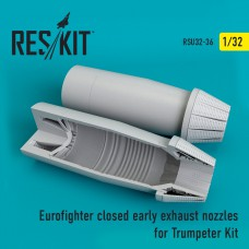 Eurofighter closed (early type) exhaust nozzles  for  Trumpeter Kit (1/32)