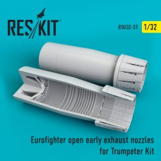 Eurofighter open (early type) exhaust nozzles for Trumpeter Kit (1/32)