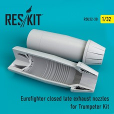 Eurofighter closed (late type) exhaust nozzles for Trumpeter Kit (1/32)