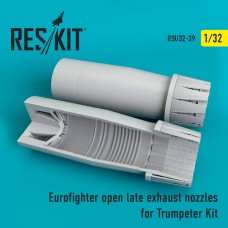 Eurofighter open (late type) exhaust nozzles for Trumpeter Kit (1/32)
