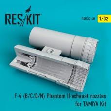 F-4 (B/C/D/N) Phantom exhaust nozzles for TAMIYA Kit (1/32)