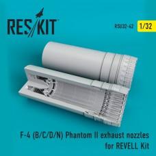 F-4 (B/C/D/N) Phantom exhaust nozzles for REVELL Kit (1/32)