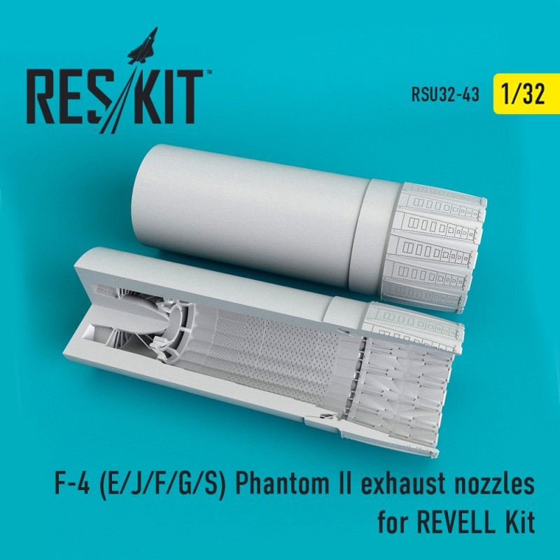 F-4 (E/J/F/G/S) Phantom II  exhaust nossles for REVELL Kit(1/32)