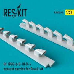 Bf 109G-6/G-10/K-4 exhaust nozzles for Revell kit (1/32)