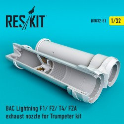 BAC Lightning F1/ F2/ T4/ F2A exhaust nozzle for Trumpeter kit (1/32)
