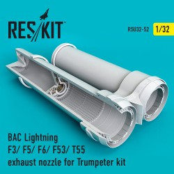 BAC Lightning F3/ F5/ F6/ F53/ T55 exhaust nozzle for Trumpeter kit (1/32)