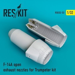 F-14A open exhaust nozzles for Trumpeter Kit (1/32)