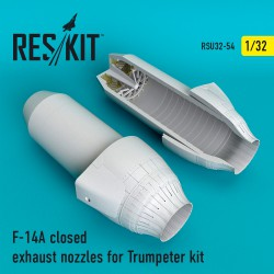 F-14A closed exhaust nozzles for Trumpeter Kit (1/32)