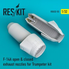 F-14A open & closed exhaust nozzles Trumpeter Kit (1/32)