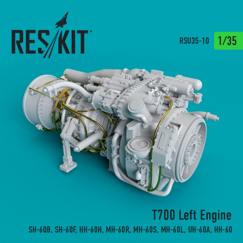 T700 Left Engine (SH-60B, SH-60F, HH-60H, MH-60R, MH-60S, MH-60L, UH-60A, HH-60) (1/35)