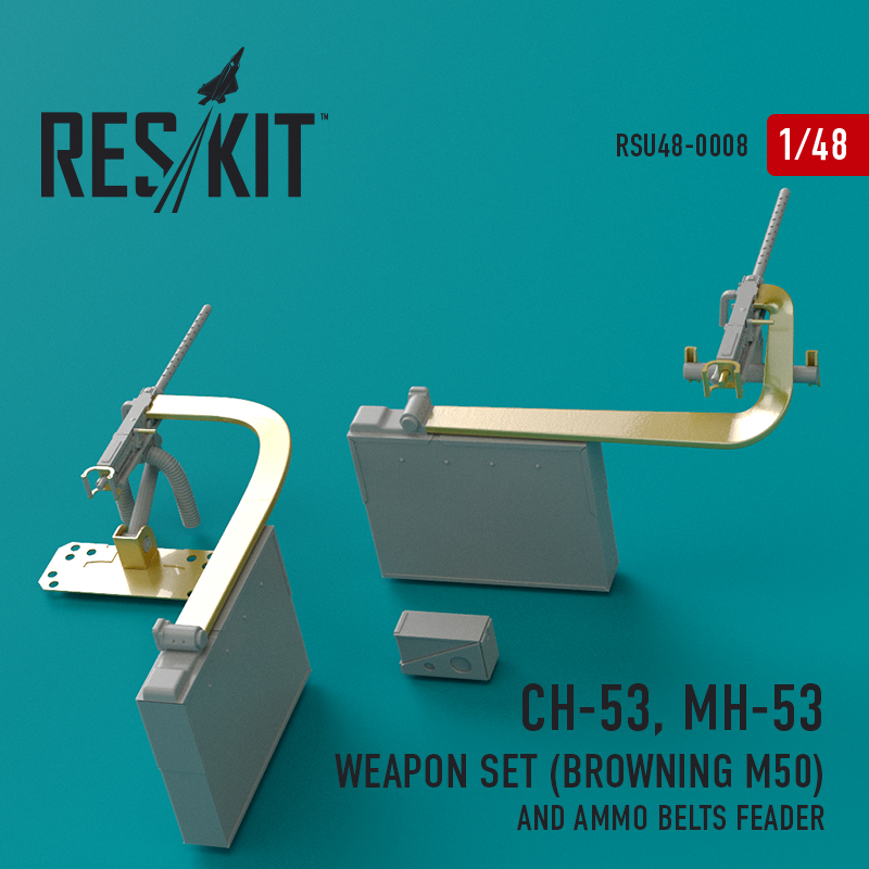 CH-53, MH-53 Weapon Set (Browning M50) and Ammo belts feader (1/48)