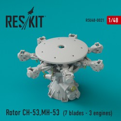Rotor CH-53 Super Stallion, MH-53E Sea dragon (7 blades - 3 engines)(1/48)