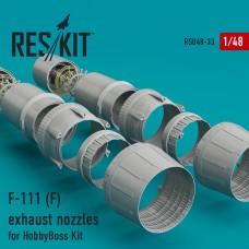 F-111 (F) сопла для набора HobbyBoss(1/48)