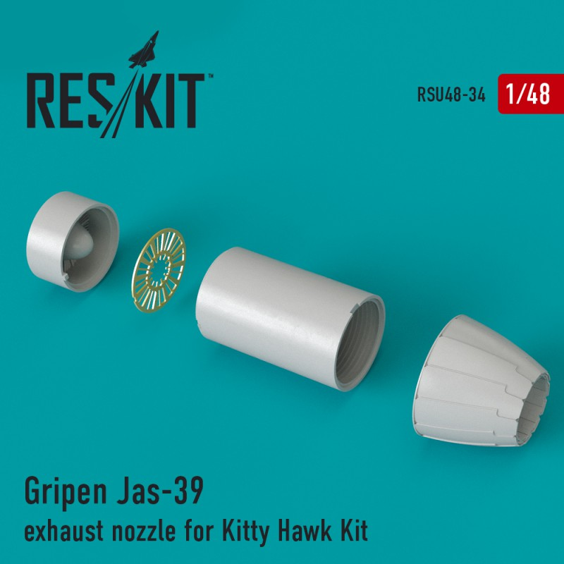 Gripen Jas-39 сопла для набора Kitty Hawk (1/48)