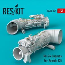 Mi-24 Engines for Zvezda Kit (1/48)