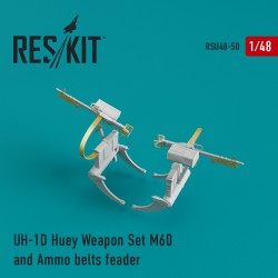 UH-1D Huey Weapon Set M60 and Ammo belts feader (1/48)