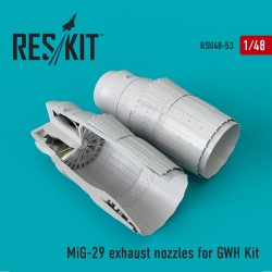 MiG-29 exhaust nozzles for GWH Kit (1/48)