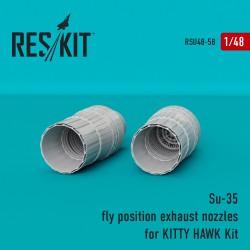 Su-35 FLY position сопла для набора KITTY HAWK Kit (1/48)