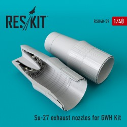 Su-27 exhaust nozzles for GWH Kit  (1/48)
