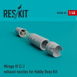 Mirage III C/J  exhaust nozzles for Hobby Boss Kit (1/48)
