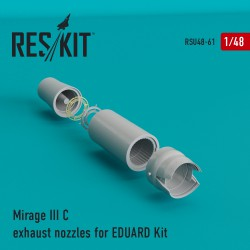 Mirage III C/J  exhaust nozzles for EDUARD Kit (1/48)