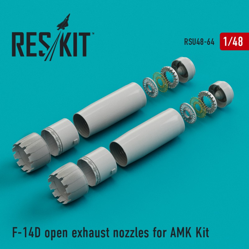 F-14D open exhaust nozzles for AMK Kit (1/48)