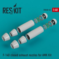 F-14D closed exhaust nozzles for AMK Kit (1/48)