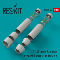F-14D closed & open exhaust nozzles for AMK Kit (1/48)
