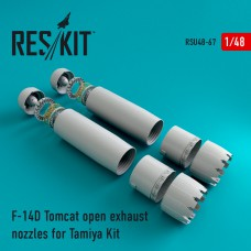 F-14D Tomcat open exhaust nozzles for Tamiya Kit (1/48)
