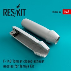 F-14D Tomcat closed exhaust nozzles for Tamiya Kit (1/48)