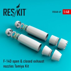 F-14D Tomcat open & closed exhaust nozzles for Tamiya Kit (1/48)