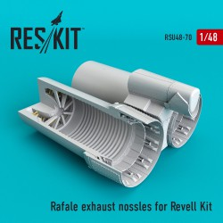 Rafale exhaust nossles for Revell Kit (1/48)