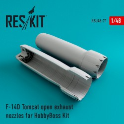 F-14D Tomcat open exhaust nozzles for HobbyBoss Kit (1/48)