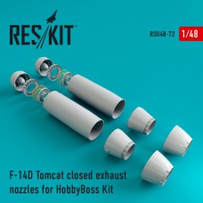 F-14D Tomcat closed exhaust nozzles for HobbyBoss Kit (1/48)