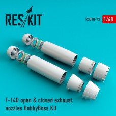 F-14D Tomcat open & closed exhaust nozzles for HobbyBoss (1/48)