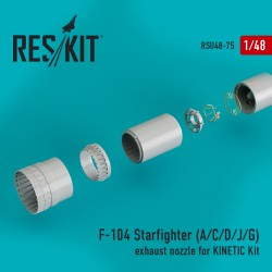 F-104 Starfighter (A/C/D/J/G) exhaust nozzle for KINETIC Kit (1/48)