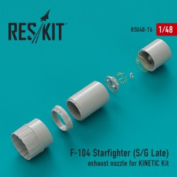F-104 Starfighter (S/G Late) exhaust nozzle for KINETIC Kit (1/48)