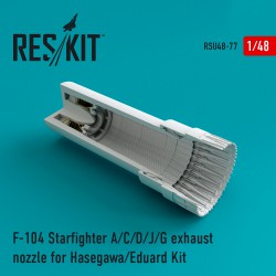 F-104 Starfighter (A/C/D/J/G) exhaust nozzle for Hasegawa/Eduard Kit (1/48)
