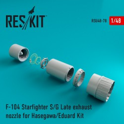 F-104 Starfighter (S/G Late) exhaust nozzle for Hasegawa/Eduard (1/48)