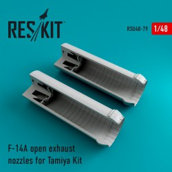 F-14A Tomcat open exhaust nozzles for Tamiya Kit (1/48)