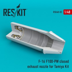 F-16 (F100-PW) closed exhaust nozzles for Tamiya Kit (1/48)
