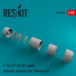 F-16 (F110-GE) open exhaust nozzles for Tamiya Kit (1/48)