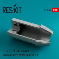 F-16 (F110-GE) closed exhaust nozzles for Tamiya Kit (1/48)