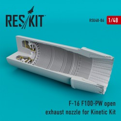 F-16 (F100-PW) open exhaust nozzles for Kinetic Kit  (1/48)