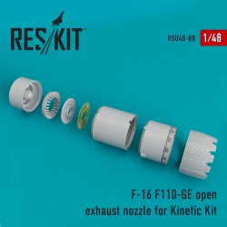 F-16 (F110-GE) open exhaust nozzle for Kinetic Kit  (1/48)