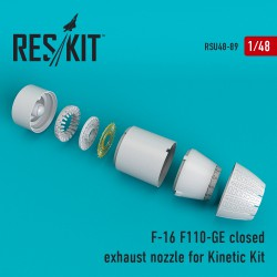 F-16 (F110-GE) closed exhaust nozzle for Kinetic Kit  (1/48)