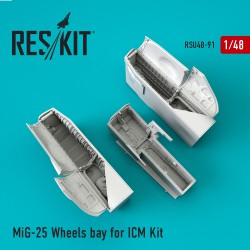MiG-25 Wheels bay for ICM Kit  (1/48)