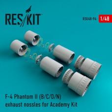F-4 Phantom II (B/C/D/N) exhaust nossles for Academy Kit (1/48)