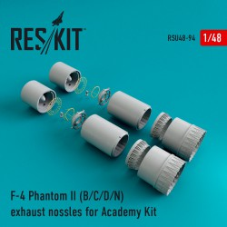 F-4 Phantom II (B/C/D/N) exhaust nossles for Academy Kit (1/48)